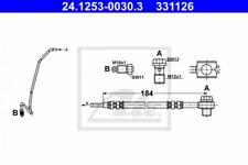 Bremsschlauch für Bremsanlage Hinterachse ATE 24.1253-0030.3