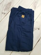 Carhartt Men's Ripstop Canvas Cargo Work Pant Navy Blue Elastic Waist Size M