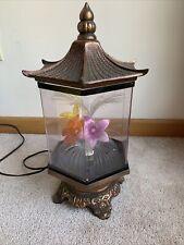 Vintage Fiber Optic Lamp Flower Pagoda - Antique Gold Finish Lights MCM
