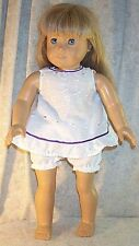 "Doll Clothes Made 2 Fit American Girl 18"" in Baby Doll Pajama Set 2pcs White"