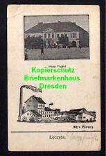 116549 AK Leczyca 1914 Hotel Polski Mlyn Parowy Dampfmühle Lenczyca Lentschitza