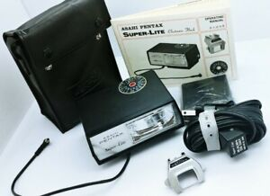ASAHI PENTAX SUPER-LITE Electronic Flash w/Original Case LIKE NEW/AS NEW