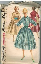 1794 Vintage Simplicity Sewing Pattern Misses 1950's Rockabilly Dress Cummerbund