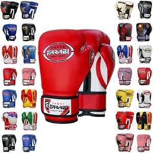 Farabi Boxing Gloves Kids Junior Muay Thai Kick Boxing Training Punching Gloves
