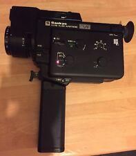 Vintage Sound movie camera  Sankyo XL-320 Supertronic+microphone+leather Bag