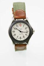 Sheffield Watch Men 24hr Stainless Silver Leather Brown Green Nylon White Quartz