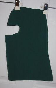 Green Balaclava Facemask Full-Face Polyester Sweatshirt Fabric