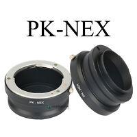 PK-NEX Adapter Ring for Pentax K/PK Lens to Sony NEX-7 6 5R 5N F5 E-mount Camera