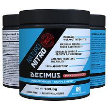 Pre Workout Decimus By Naturo Nitro, Amino Acids - Pink Lemonade 28 Serving