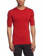 Adidas TechFit ClimaLite Mens SS Compression Base Layer Shirt MEDIUM M Red