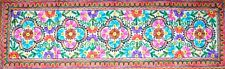Embroidered Floral Tapestry Wall Hanging Table Bed Runner Woollen Indian RN009