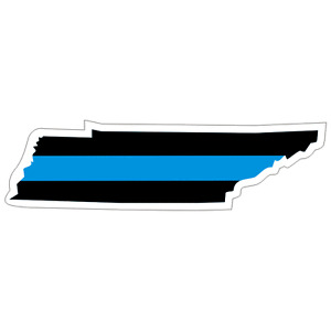 Tennessee TN State Thin Blue Line Police Sticker / Decal #219 Made in U.S.A.