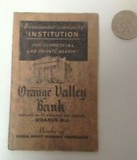 Vintage 1937 Orange New Jersey Orange Valley Bank Card