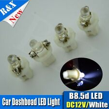 4 X 5MM LED T5 B8.5D 2721 286 WHITE 6000K CAR INTERIOR DOME 12V LIGHT BULB/LAMP