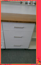 Flat Pack Kitchen High Gloss White Kitchen Base Cabinet 800 3 Drawers