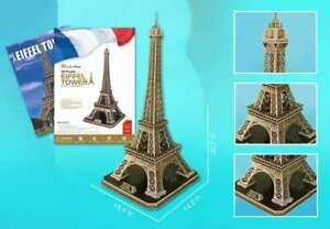 Eiffel Tower 82pc 3D Jigsaw Puzzle CubicFun New Sealed