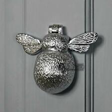 Bright Chrome Bumblebee Door Knocker - 10.5cm x 13cm