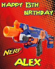 NERF - Personalised Birthday Card any and and age free postage