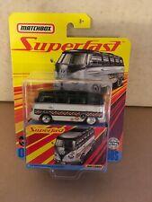 Matchbox SUPERFAST 59 VW Bus Volkswagen Microbus Real Rider Tires Doors Open!