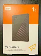 WD - My Passport 1TB External USB 3.0 Portable Hard Drive with Hardware Encryp