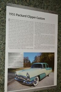★★1955 PACKARD CLIPPER CUSTOM INFO SPEC SHEET PHOTO FEATURE PRINT 55★★