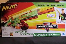 NERF N-STRIKE LONGSTRIKE CS-6 BLASTER TOYSRUS EXCLUSIVE SONIC SERIES RARE NEW