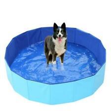 1pc piscine pour animaux de compagnie pliable baignoire PVC fond antidérapant