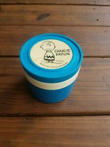Vintage Blue Charlie Brown Thermos Insulated Jar, Model 1155/3