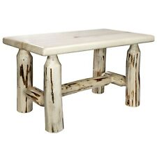 Log Foot Stool for Rocker Amish Made Rustic Rocking Chair Ottoman Footrest