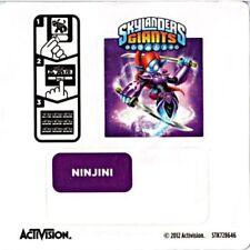Ninjini Skylanders Giants Sticker/Code Only!