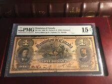 1898 $1 DC-13c Dominion of Canada PMG 15