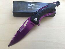 MTech Ballsitic Spring Assisted PurpleBlade Folding Pocket Knife Switch