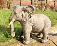 Large Resin Elephant Wild Safari Animal Vivid Arts Gard E2 Garden Ornament