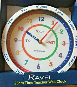 Ravel Time Teacher Design Wall Clock For Kids Bedroom New Educational gift UK