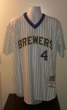 Paul Molitor Milwaukee Brewers 1982 Mitchell and Ness Retro Jersey L