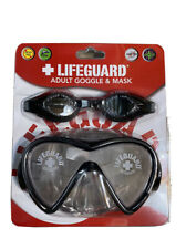 New listing OFFICIAL LIFEGUARD ADULT DIVING MASK & Googles Combo LATEX FREE