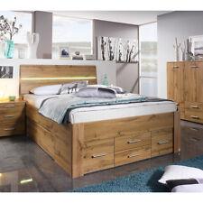 Bett Scala Bettgestell Jugendbett Bettsystem Eiche Wotan mit Beleuchtung 140x200