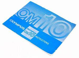Olympus OM10 Instruction Manual, UK Dealer