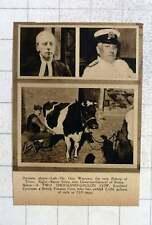 1919 2000 Gallon Cow South Hill Countess, Baron Saito, Dr Guy Warman