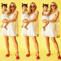 Mommy and Me Family Matching Dress Mother Daughter Polka Dot Sundress Kid Women