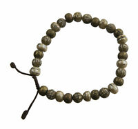 Braccialetto Tibetano Mala Rosario Perle Metallo Madreperla Da Ø8mm Tibet 218
