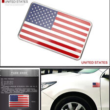 USA US American Flag 3D Car Auto Decor Sticker Badge Emblem Adhesive Aluminium