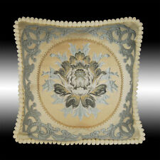 """BLUE DAMASK TAPESTRY SOFT VELVET THROW PILLOW CASE CUSHION COVER CHAIR PAD 20"""""""