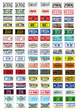 1/25 scale model car assorted USA semi truck license plates state tags 1:25
