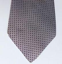 Vintage Turnbull & Asser silk tie Grey and black check vintage 1980s 1990s