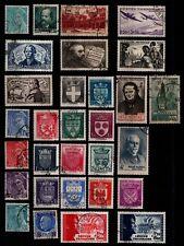 L'ANNÉE 1942 Complète, Oblitérés = Cote 88 € / Lot Timbres France n° 538 à 567