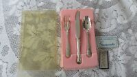 Vintage RODD Silver Plated Childs Knife Fork & Spoon Boxed set