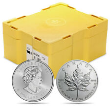 4 Rolls of 25 (100 Coins) - 2017 1 oz Silver Maple Leaf Coins w/FREE Monster Box