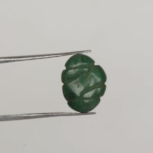 Colombian Natural Green Emerald 5.00 Ct. Hand Carved Stone For Ring FQ-913