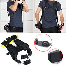 Quick Rapid Dual Double Shoulder Belt Harness Holder Camra Neck Strap DSLR SLR